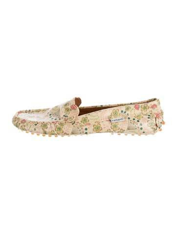 Cacharel Girls' Floral Print Driving Loafers
