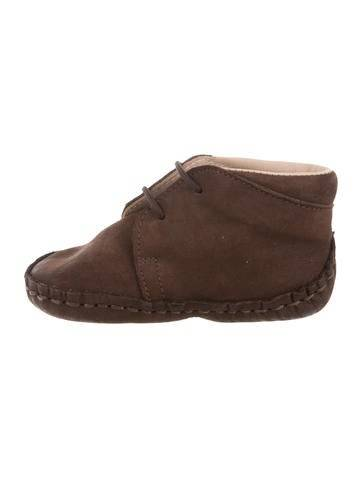 Caramel Baby & Child Boys' Suede Lace-Up Booties