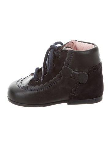 Jacadi Girls' Leather Lace-Up Booties
