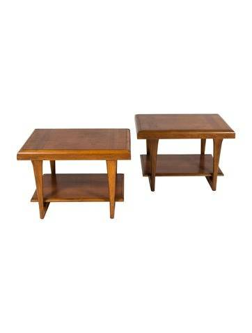 Furniture Pair of Lane Side Tables