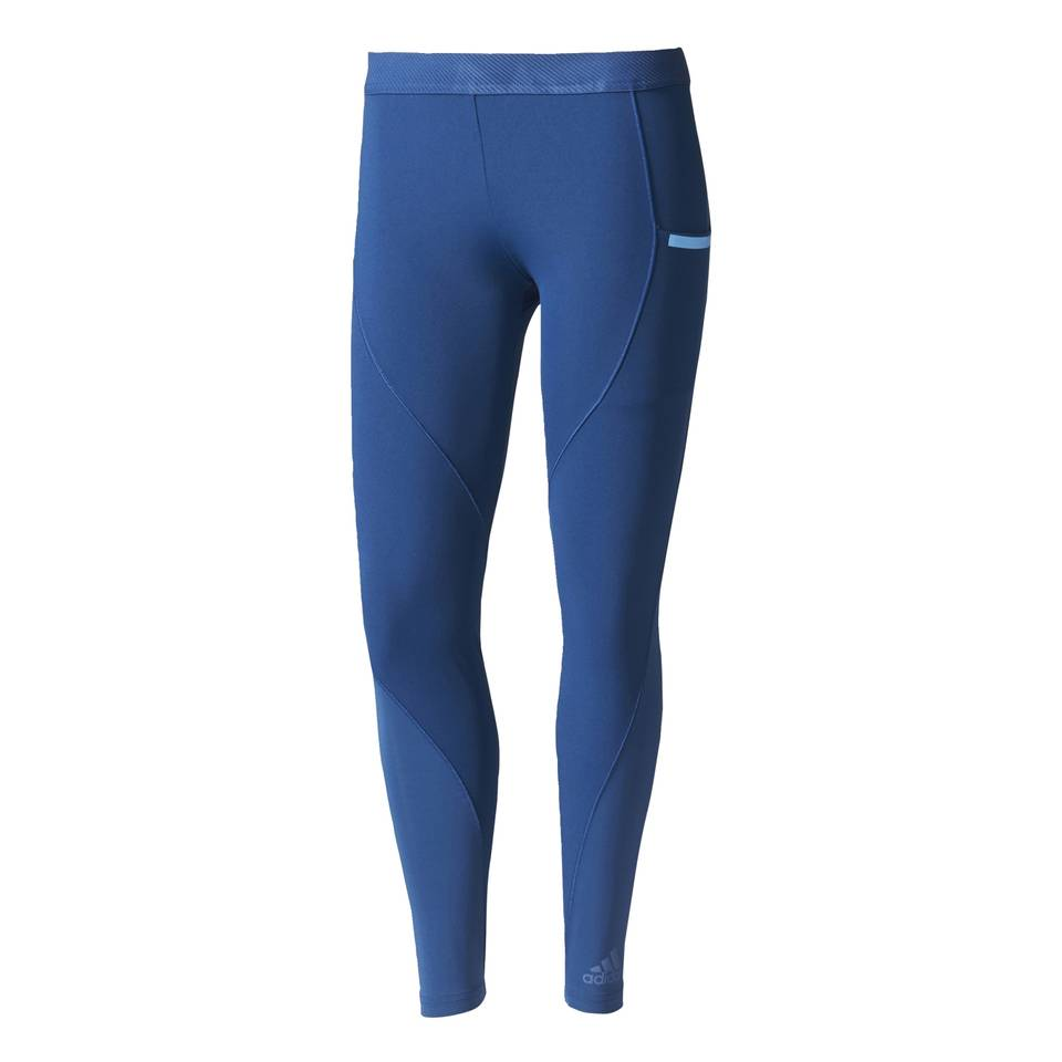 adidas Women's Climachill Tights - Mystery Blue - L - Mystery Blue