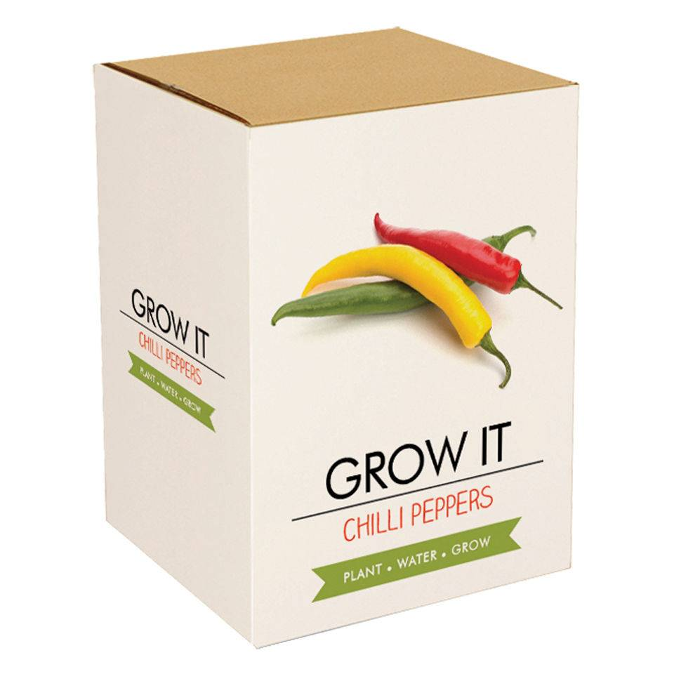 Gift Republic Grow Your Own Chilli Plants Gift Set