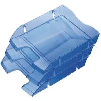 Placativ Helit PET Recycled Letter Tray Blue H2363530