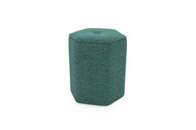 Harveys Edit Accessories Small Hex Footstool in Ealing Plain