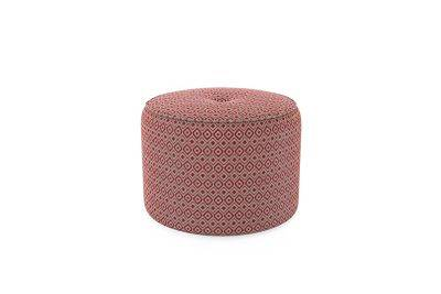 Harveys Edit Accessories Large Drum Footstool in Hoxton Pattern