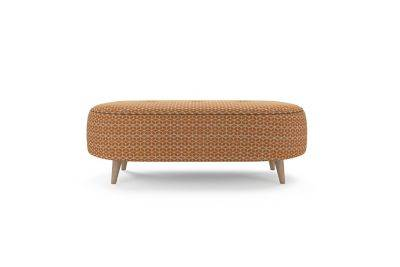 Harveys Edit Accessories Oval Footstool in Balham Pattern