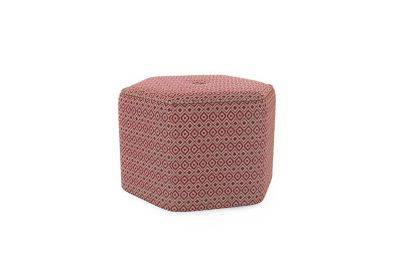 Harveys Edit Accessories Large Hex Footstool in Hoxton Pattern