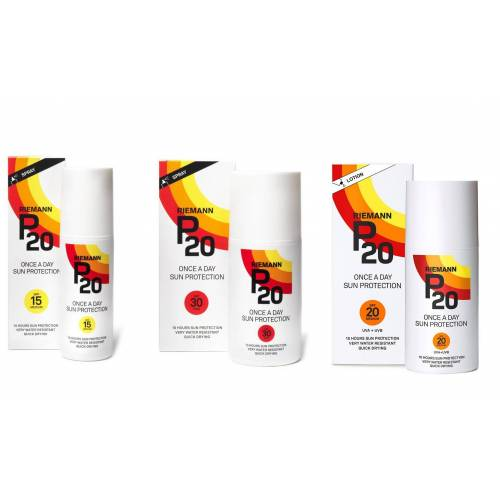 Riemann P20 Lower Factors Packs of SPF 15, SPF 20 Lotion and SPF 30 in 200ml Sizes