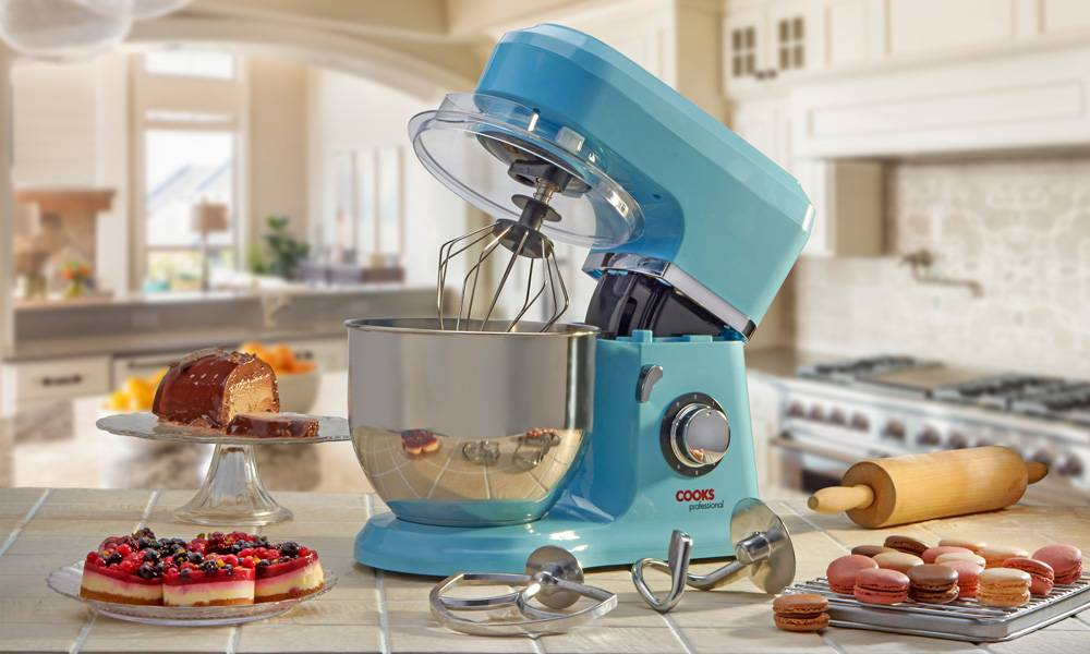 Cooks Professional 800W Stand Mixer - Blue