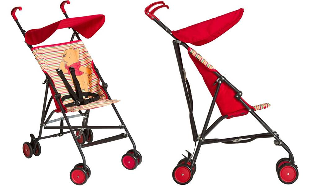 Hauck Disney Character-Themed Sun Plus Stroller: Pooh Spring Brights Red
