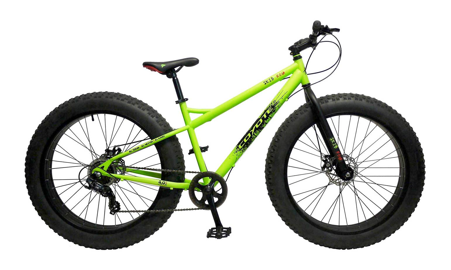 Avocet Coyote Fat-Tyre Bike - Skid Row - Green