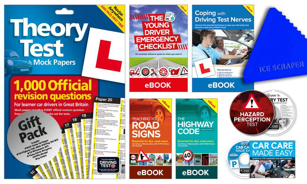 Groupon Goods Two Learner Driver Gift Packs: Theory Test Papers and Driving Test PC/DVD with Ice Scraper (66861917)