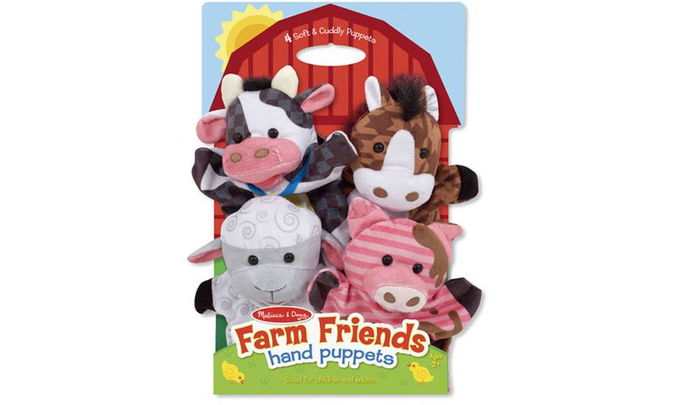 Melissa & Doug Farm Animal Friends Hand Puppets