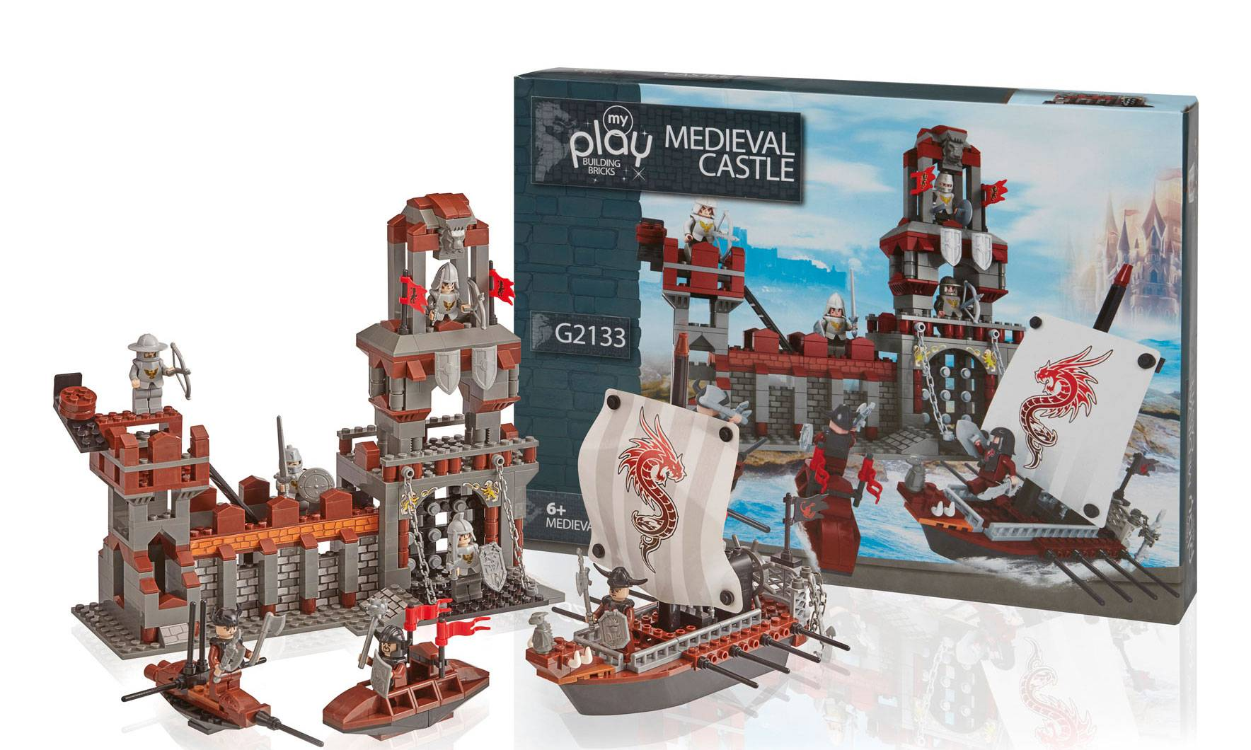 Groupon Goods Medieval Castle Construction Set: Two