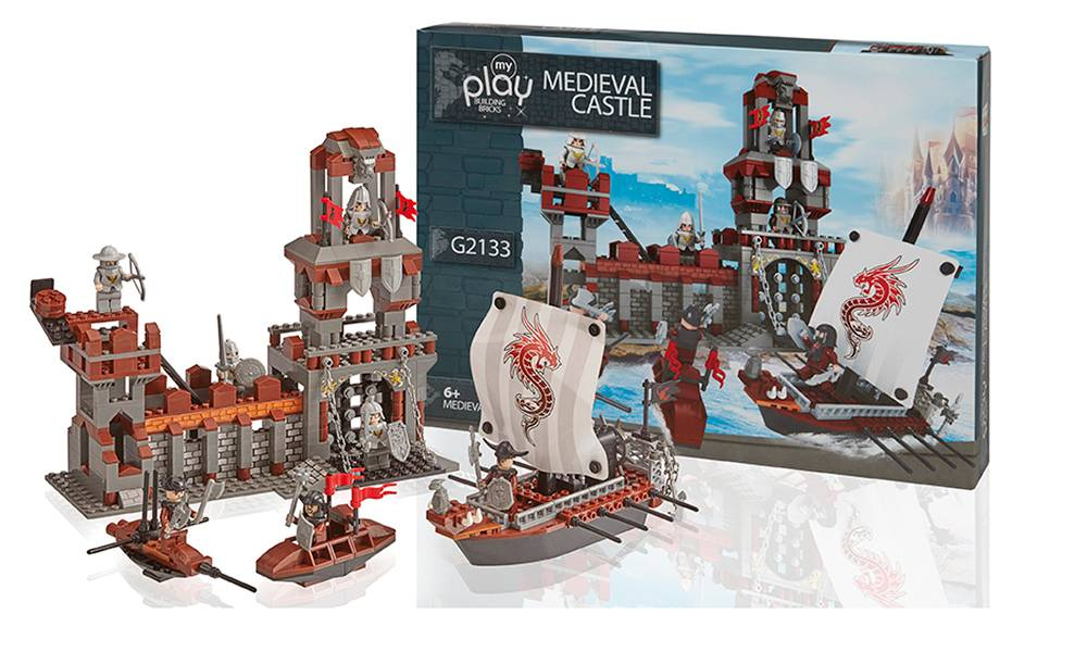 Groupon Goods Medieval Castle Construction Set