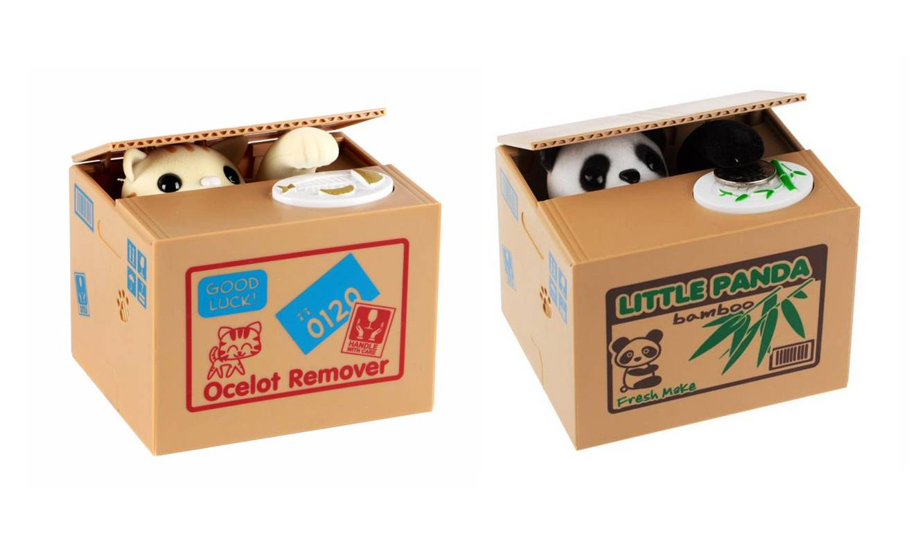 Groupon Goods Two Mischief Money Boxes - Cat and Panda