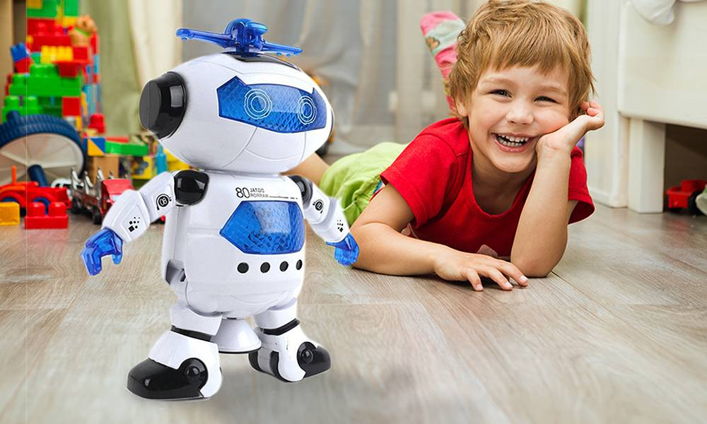 Groupon Goods Two Kid's Smart Dancing Space Robots with LED Lights and Music