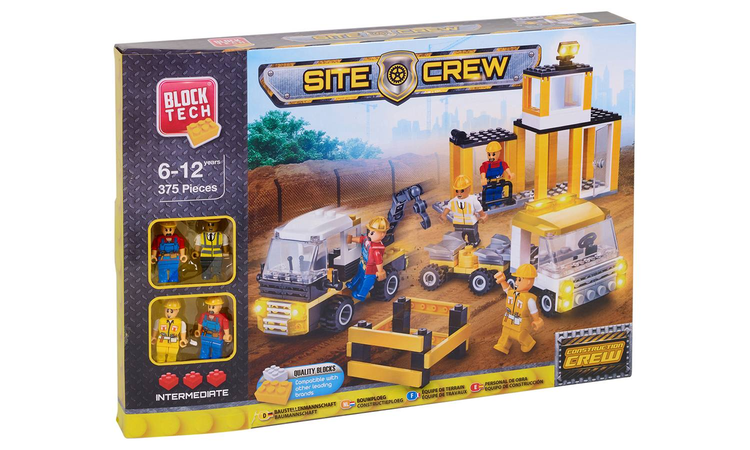Groupon Goods Block Tech Construction Bricks Sets: Construction Site Crew