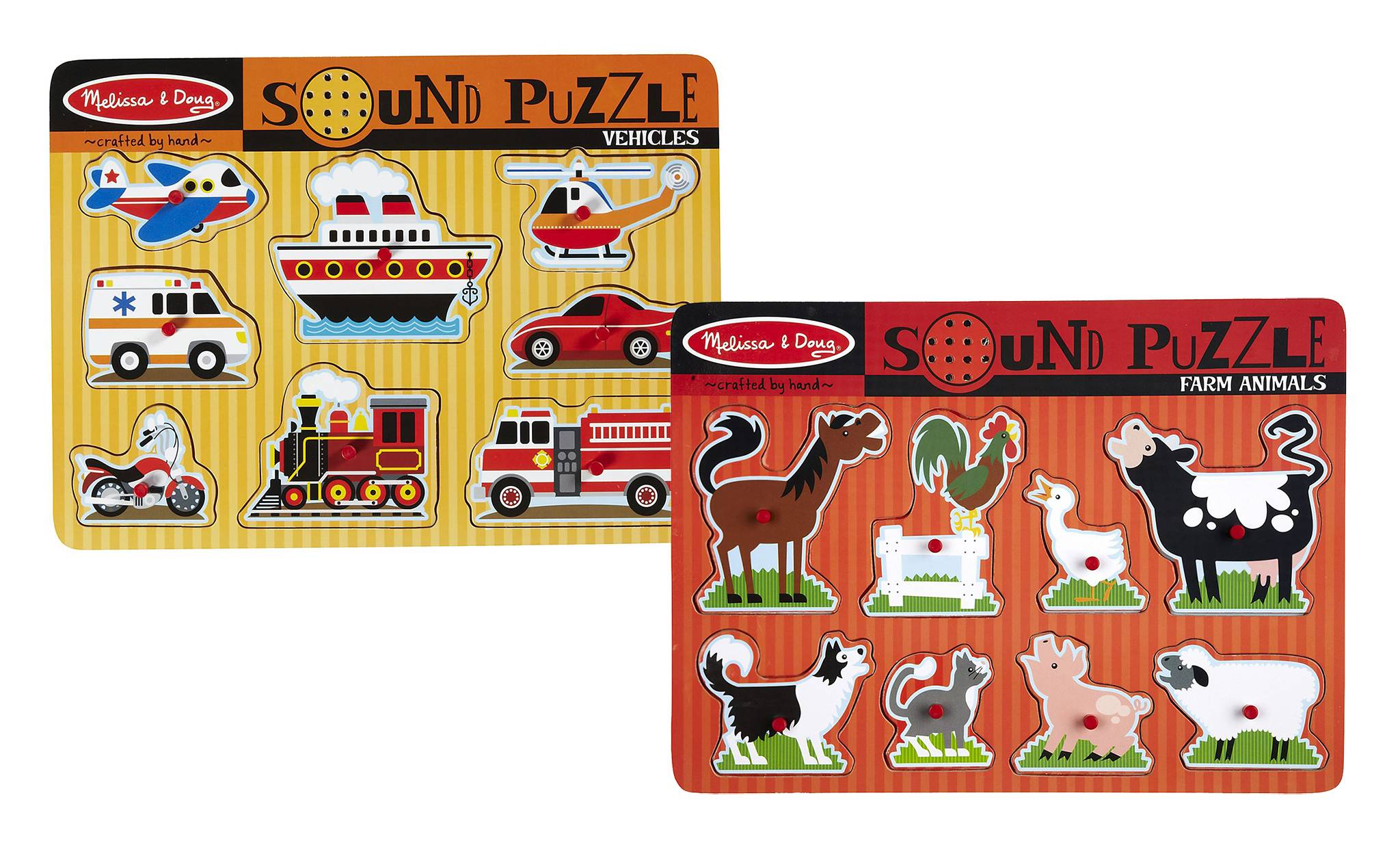 Melissa & Doug Melissa and Doug Farm Animals and Vehicles Sound Puzzles