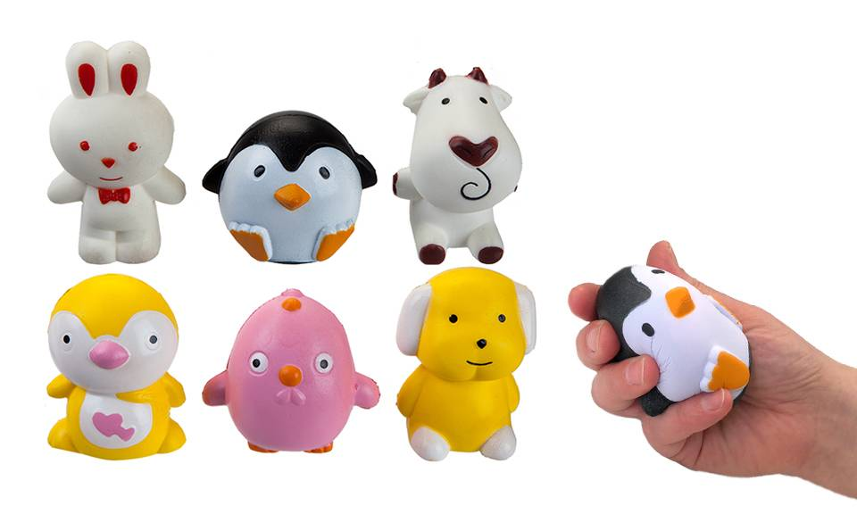 PMS International Six PMS International Squishies Slow-Rise Animals: All Available Animals