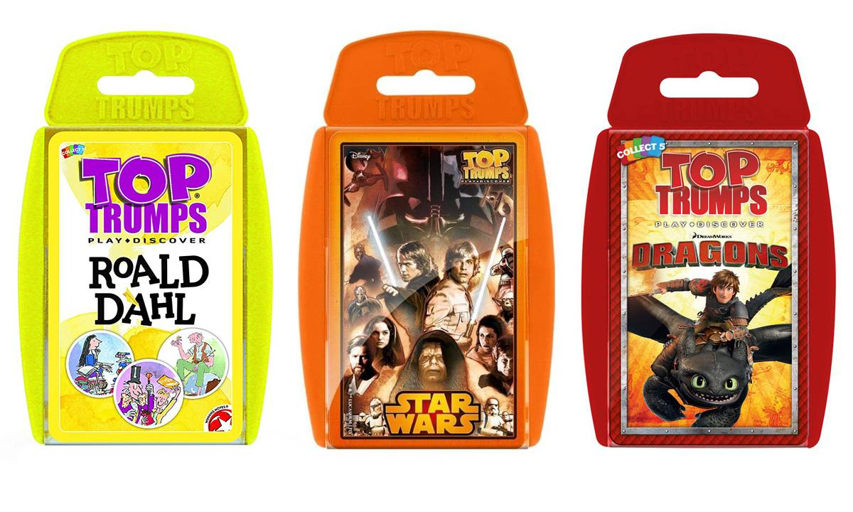 Winning Moves Top Trumps Triple-Pack: Roald Dahl, Dragons and Star Wars