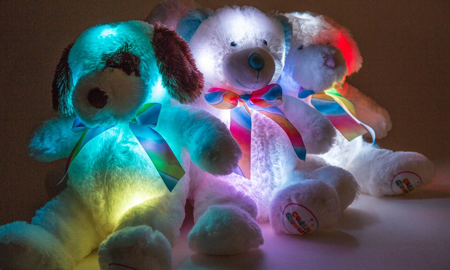 Groupon Goods Two Glowing Puppy Cuddly Toys - Assorted