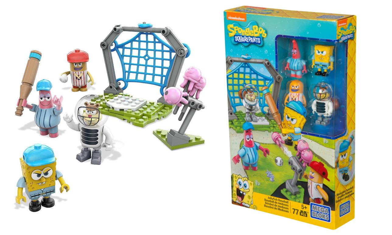 Mega Bloks SpongeBob Jellyfish Baseball Construction Kit