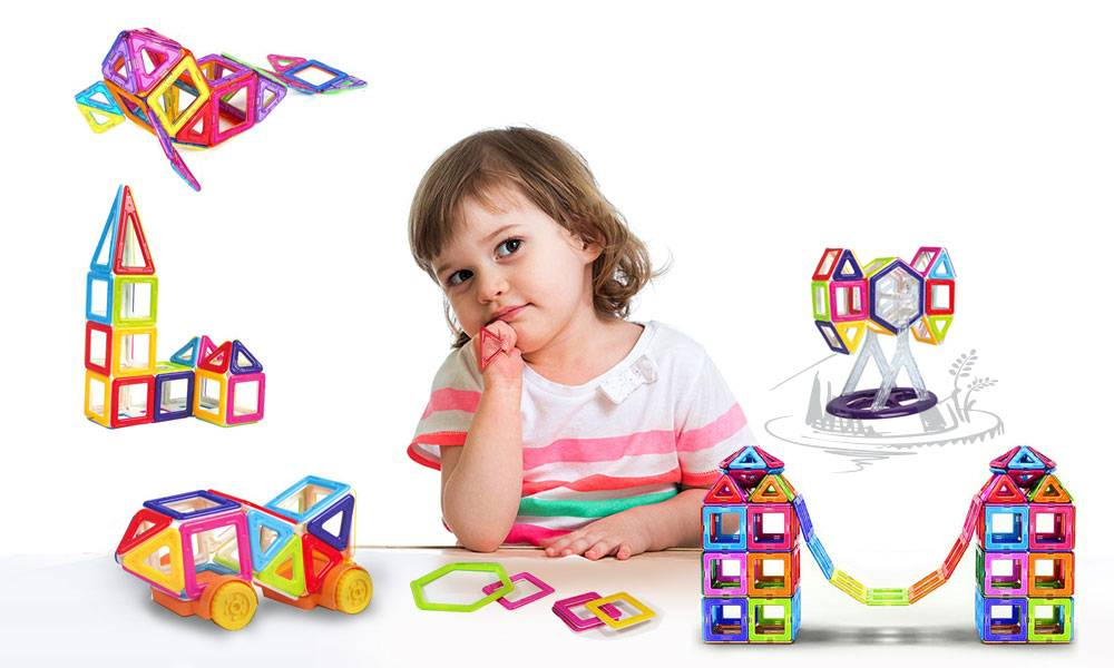 Groupon Goods One 76-Piece Magnetic Construction Set