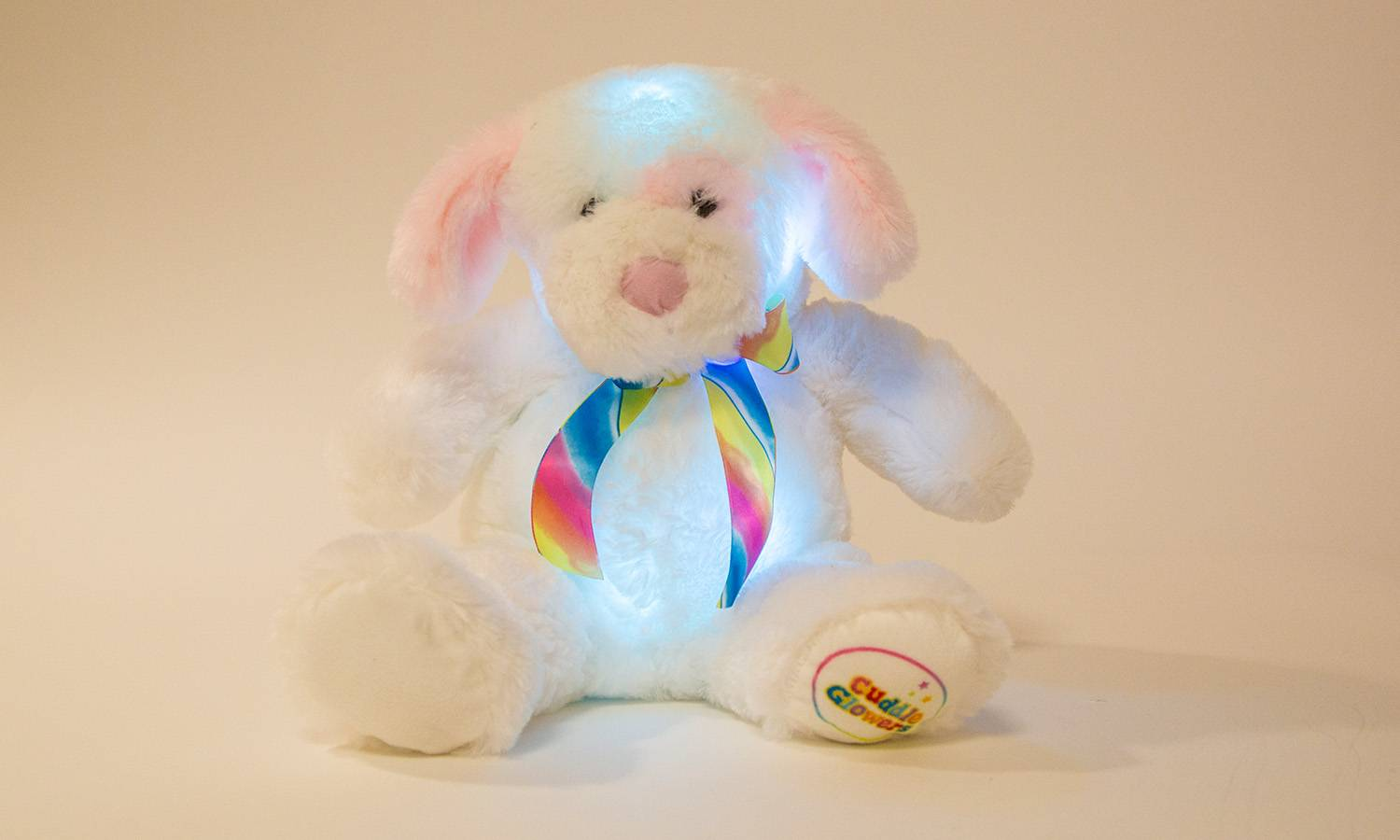 Groupon Goods One Glowing Puppy Cuddly Toy - Pink