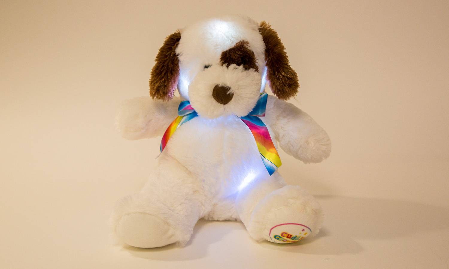 Groupon Goods One Glowing Puppy Cuddly Toy - Brown