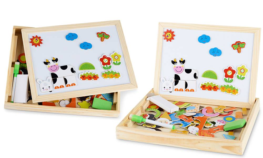 Groupon Goods Chalkboard and Whiteboard in One: Farm