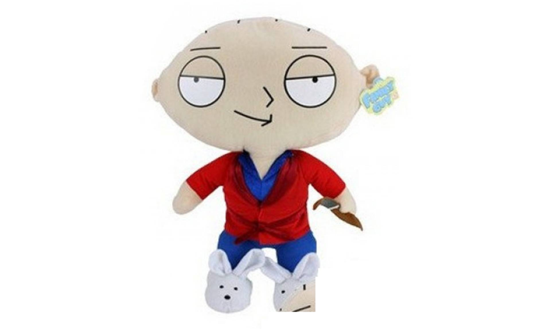Family Guy Stewie Plush Soft Toy - 54cm - Lounge Suit with Pipe