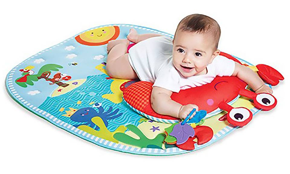 Tiny Love Aquatic-Themed Tummy Time Play Mat with Pillow