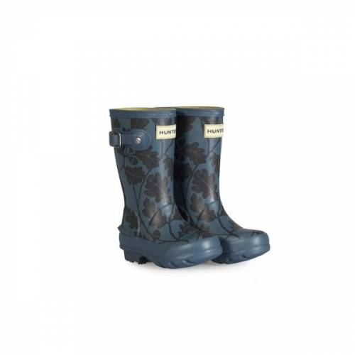 The National Trust National Trust Oak Leaf Hunter Little Kids Wellington Boot, Dusk - 12