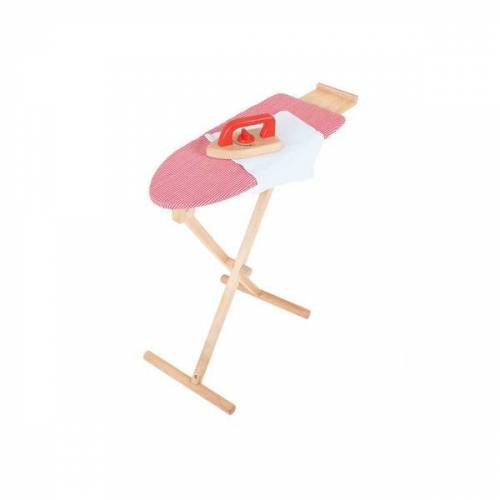 The National Trust Bigjigs Childrens Wooden Iron And Iron Board In Red
