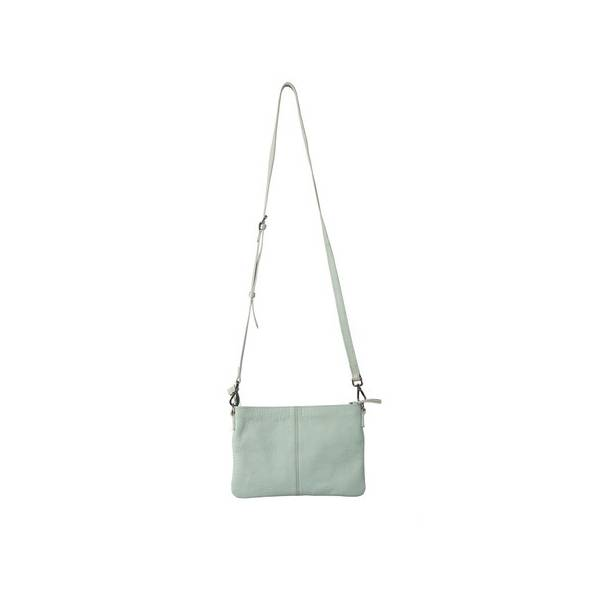 The National Trust National Trust Leather Cross Body Bag, Duck Egg
