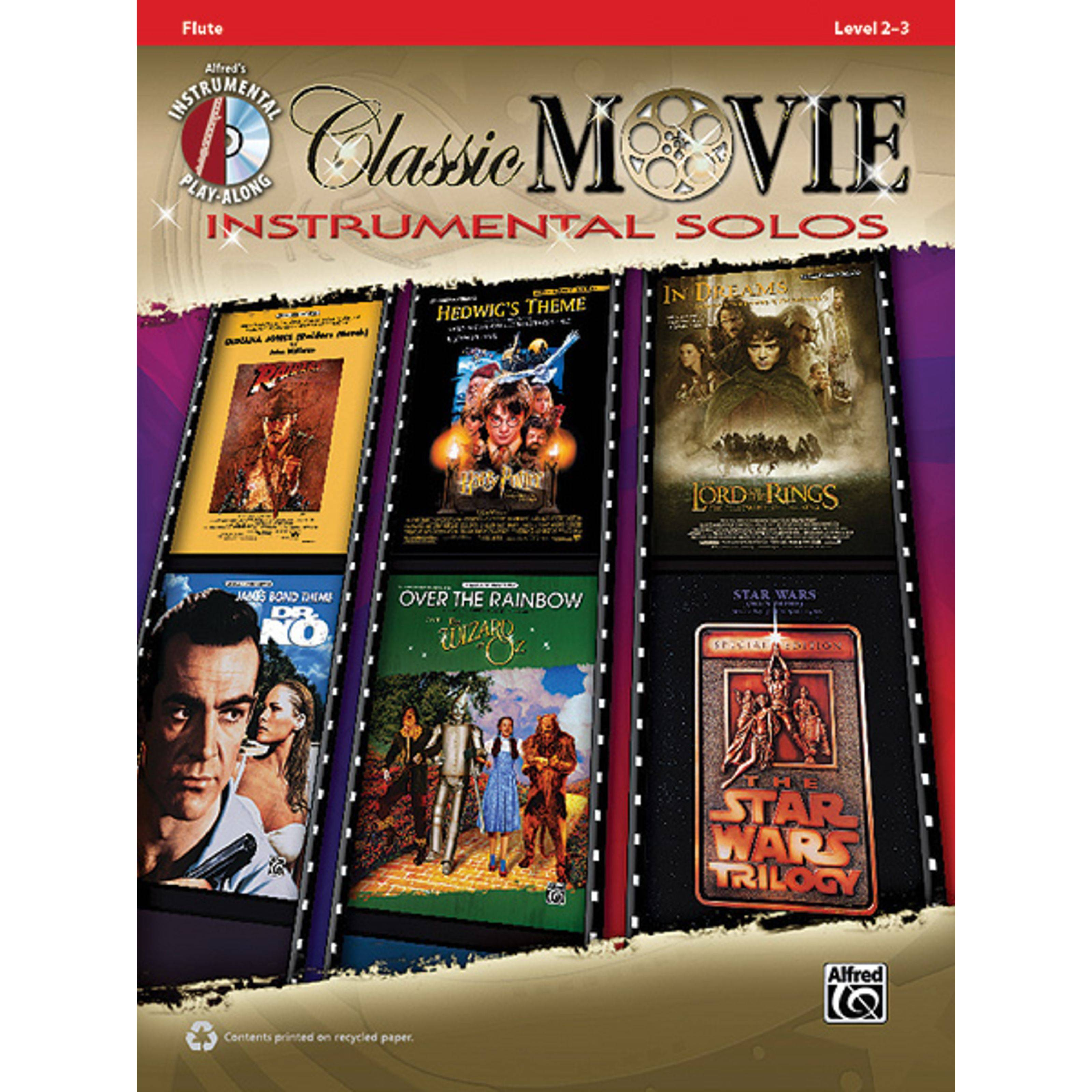 Alfred Music Classic Movie - Flute Instrumental Solos, Book/CD