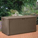 Suncast Large Resin Wicker Deck Box Buy Sheds Direct