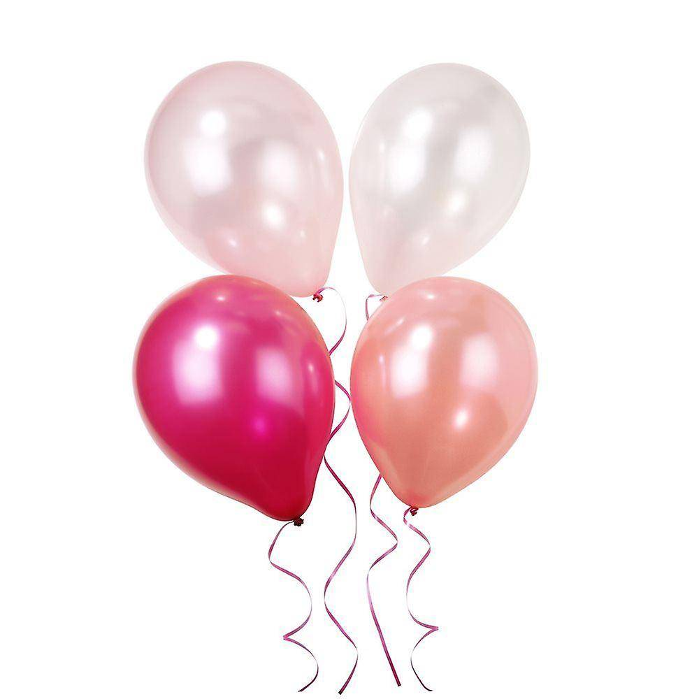parties wrapped pink n mix party balloons
