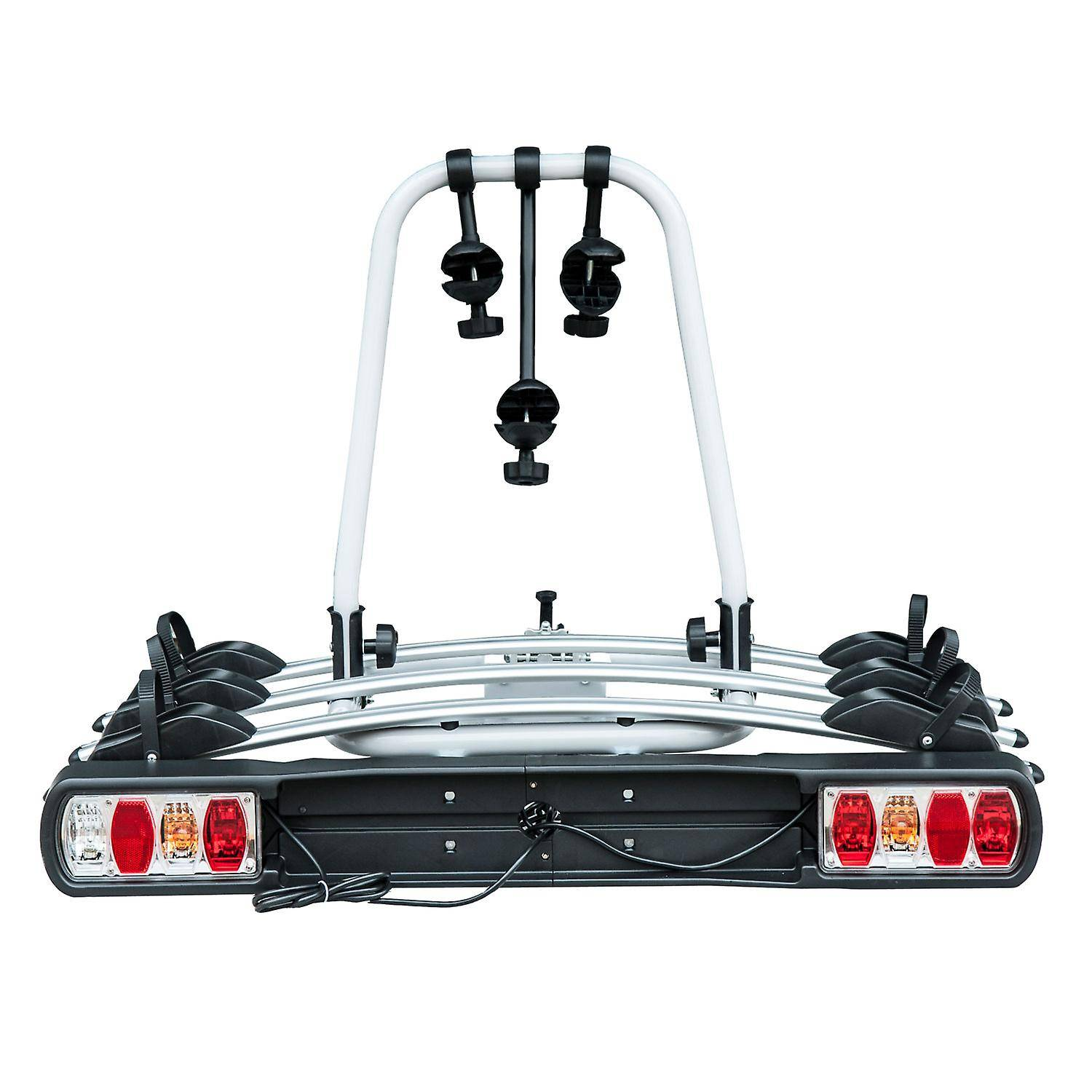 Homcom Bicycle Carrier Rear-mounted 3 Bike Carrier Car Rack Rear To...