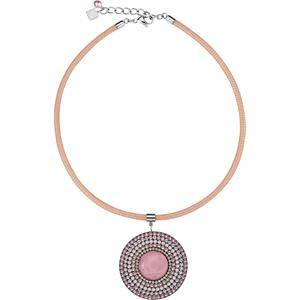 Coeur de Lion Jewellery Necklace Swarovski Kristalle & Glas Collier Peach Swarovski crystals, polished glass, stainless steel 316L, silver-plated, enamelled mesh chain 1 Stk.