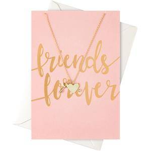 """Orelia Jewellery Gift Cards """"Friends Forever"""" Card with a Heart and Key Necklace 1 Stk."""