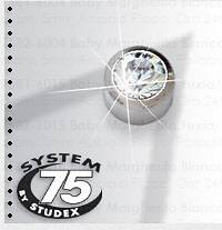 STUDEX ITALIA Srl System75 Brushed Steel Gold Plated 3mm Accessory 2 Pieces