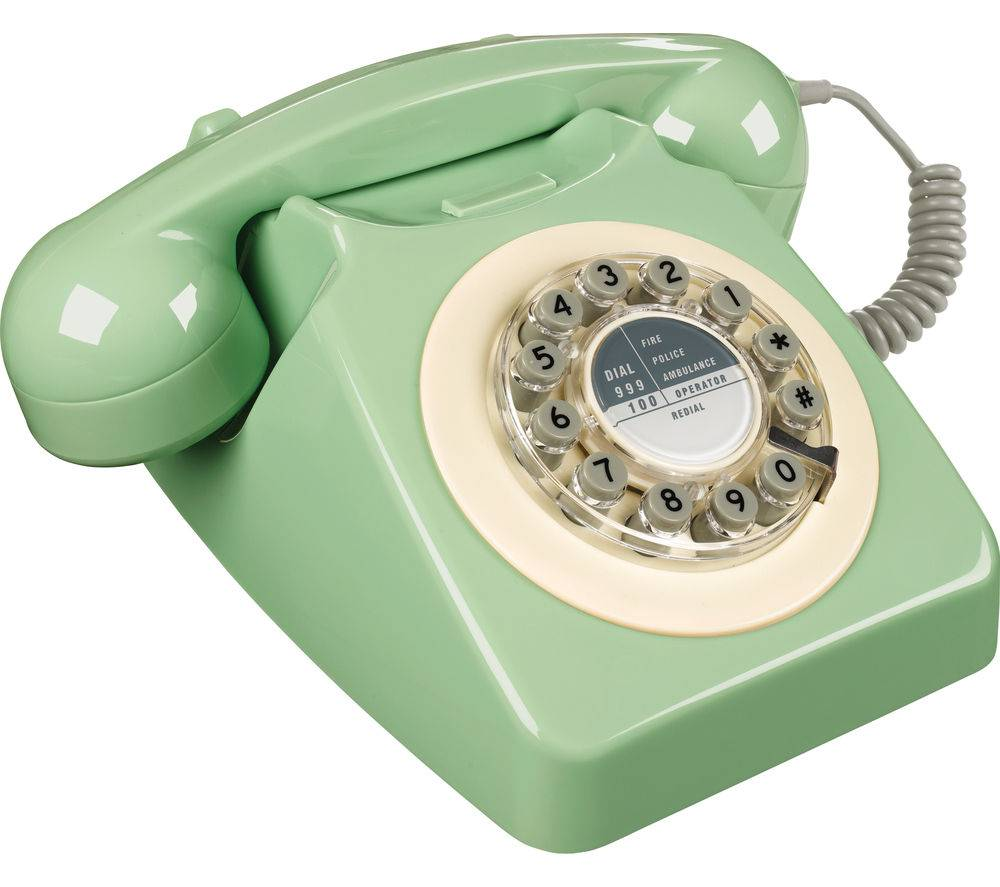Wild & Wolf 746 Corded Phone - Swedish Green