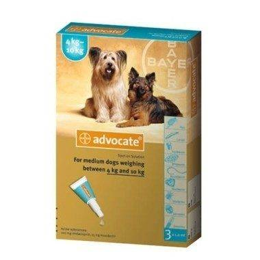 Bayer Advocate Spot On for Dogs - 100 (4 - 10 kg) 3 pipettes