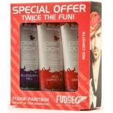 Fudge Paintbox Creative Conditioning Colour Red Corvette Trio