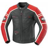 IXS Curtis Leather Jacket Black Red 60