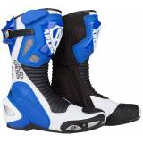 Arlen Ness Pro Shift Motorcycle Boots Black White Blue 40