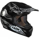 Lazer MX7 Evo Triskel Cross Helmet Black Grey XS