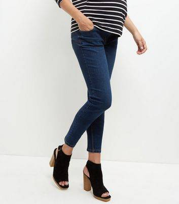 New Look Maternity Navy Under Bump Skinny Jeans (Sizes: 18 L32)